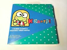 Vintage Sanrio Keroppi 7 Rubber Stamps & Ink Pad All Night Media New In Package