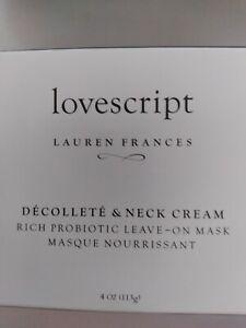 Lovescript Decollete & Neck Moisturizing Body Cream/Moisturizer/ Leave-On Mask.