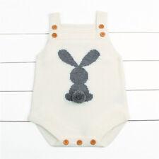 Cute Newborn Baby Boy Girl Bunny Knitting Wool Romper Bodysuit Jumpsuit Outfit