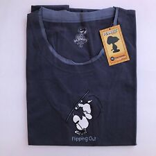 Peanuts Tee Shirt Flipping Out Snoopy On Skis XL Junior Huge Brands Apparel