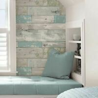 Brewster NU1647 Reclaimed Wood Pattern Beachwood Peel and Stick Wallpaper USA