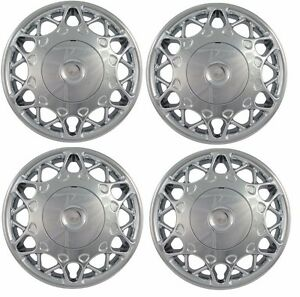 """NEW 1997-2005 Buick CENTURY 15"""" CHROME Hubcap Center Wheelcover SET 2 pc Bolt-On"""