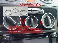 3 Alu Ringe Lüftungsregler Aluringe für VW Caddy K2 Chrom
