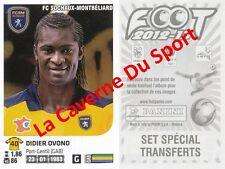 SET TRANSFERT DIDIER OVONO # GABON FC.SOCHAUX VIGNETTE STICKER PANINI FOOT 2013