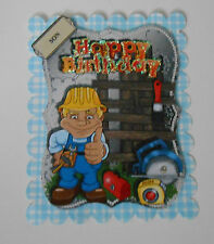 PK 2 DIY SON HAPPY BIRTHDAY EMBELLISHMENT TOPPER  FOR CARDS OR CRAFTS ***