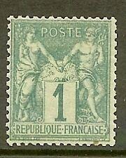 "FRANCE STAMP TIMBRE N° 61 "" TYPE SAGE 1c VERT "" NEUF x TB"