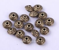 100pcs Charm Antique Bronze Tibetan Silver Spacer Beads 6.5mm For Jewelry Making