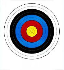FITA Style Single Spot Vegas Archery Paper Targets - 17.5x19.5 - 43 Qty