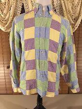 Mens PAUL-FREDRICK S SMALL TRIM FIT Quilted Linen Beach Walker Shirt VGUC
