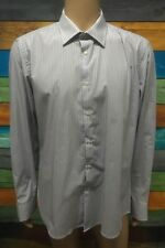 (Used) Mens Next Formal Button Front Long Sleeve Shirt Size: 17.5 / XL Stripes