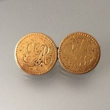2 Dollar Newfoundland Gold Coin Love Token Pin / 1865 & 1872 / Canada