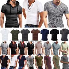 Moda Uomo Maglietta T-Shirt Slim Fit Manica Corta Casual Estivo Maglia T SHIRT