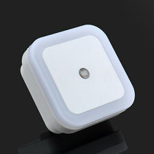 New Auto LED Light Induction Sensor Control Bedside Night Light In Wall Lamp US