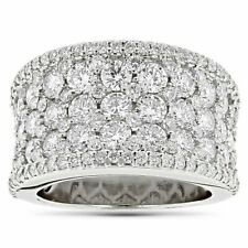 1/4 Ct Round Cut Natural Diamond 14k White Gold Finish Cluster Engagement Ring