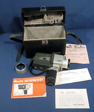 Vintage Minolta AutoPak-8 K7 Super 8mm Movie Camera + Manual Orig. Leather Case