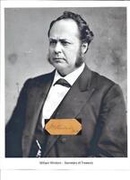 William Windom Autograph Senator Secretary Treasury US Silver Certificates #2
