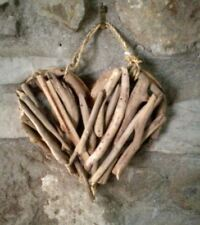 Driftwood Heart Craft Rustic Hanging  Hand Made Love Unique  Gift Wedding Beach