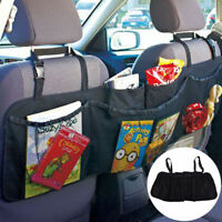 Auto Car Seat Back Storage Bag Interior Organizer Multi Pocket Accessory Black