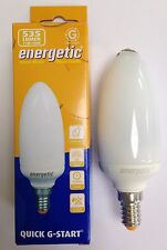 5x 11W Low Energy Power Saving CFL Candle Light Bulbs SES E14 Small Screw Lamps