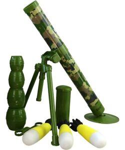 Kids Toy Army Rocket Launcher Mortar Bomb Boys Army Soldier Play Rifle Gun UK