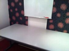 Used in excellent condition extra large industrial metal and formica top table