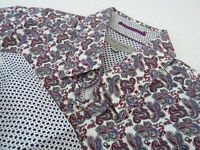 "TED BAKER Mens Shirt 🌍 Size 3 (CHEST 38"") 🌎RRP £65-129+📮 FLORAL PAISLEY PRINT"