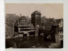 Schrag, Allemagne, Nürnberg, Henkerthurm  Vintage albumen print Tirage albumin