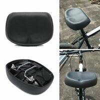 Big Ass Bicycle Bike Saddle Wide Large Cycling Noseless Soft PVC PU Length Seat
