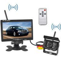 "Wireless 7"" Monitor Reversing Camera Rear View Kit 12V 24V Truck Caravan Boat"
