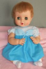 Aqua Doll Dress with Polkadots: Old Store Stock gown fits 16-18 inch Babydolls
