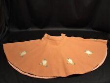 "Vtg 50s Pink Wool Hearts Rockabilly Poodle Circle Skirt Girls/Toddler 19"" Waist"