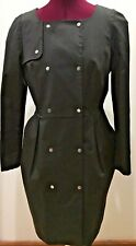 H&M Black Trench Coat Size 6_