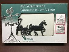 """Whitehall 24"""" Aluminum Weathervane/ Country Doctor/Horse & Buggy/ Made In Usa"""