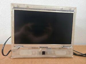"""Skyworth 13"""" LED HDTV Clear Cabinet Prison TV Tested Works"""
