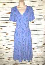 Fresh Produce Blue Dress Sunset Sky Crossover Pockets Midi Modal Large