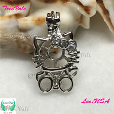 Hello Kitty Pearl Pendant - 925 Sterling Silver - Fun Gift!!