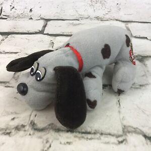 """Pound Puppies Plush Mini Gray Black Spotted Mini 6"""" Stuffed Animal Dog By Tonka"""