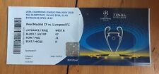 2018 Champions League Final Ticket:- Real Madrid V Liverpool.