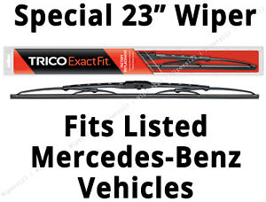 """Special 23"""" Front Wiper fits Listed Mercedes-Benz w/Single Blade System - 23-1"""