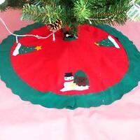 Nonwoven Xmas Tree Skirt Snowman Santa Claus Christmas Home Party Decor Ornament