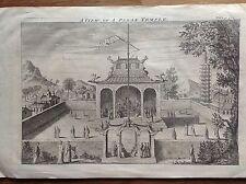 VUE UN TEMPLE PAÏEN Acquaforte 1744 T. Woodward, A. Ward