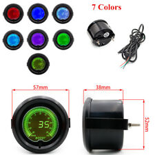 "1x 12V 52mm/2"" Vehicle Car PSI Boost Gauge 7 Colors Digital LED Indicator Light"