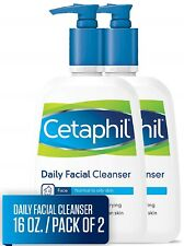Cetaphil Facial Cleanser, Daily Face Wash for Normal to Oily Skin 16oz Pack of 2