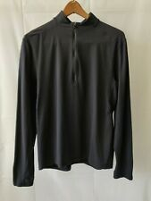 Men's Lululemon 1/4 Zip Faded Black  Pullover Size Medium Long Sleeve