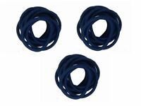 30 x Navy Blue Thick Endless School Hair Elastic Bobbles Snag Free No Metal