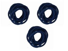 30 x Navy Blue Thick Endless School Hair Elastic Bobbles Snag Free No Meta