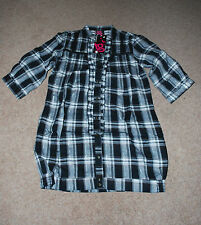 Womens Black and white check shirt BNWT size 8