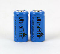Ultrafire 3.7V 1200mAh 16340 Rechargeable Li-Ion Battery Batteries CR123A / 2pcs
