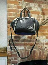 Fiorelli Womens Black Embossed Leather Handbag Crossbody Bag