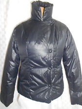 THE GAP QUILTED PUFFER WINTER DOWN BLACK JACKET HOOD WOMEN SIZE XS NICE